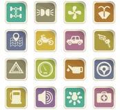 Car shop icon set Royalty Free Stock Image