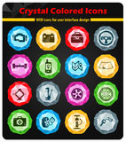 Car shop icons set. Car shop black silhouette simply icons for web Royalty Free Stock Image