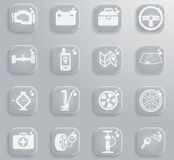 Car shop icons set. Car shop black silhouette simply icons for web Royalty Free Stock Photography