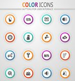 Car shop icons set. Car shop icon set for web sites and user interface stock illustration