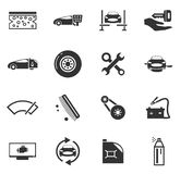 Car shop icons set Royalty Free Stock Images