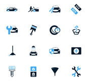 Car shop icons set. Car shop icon set for web sites and user interface Stock Images