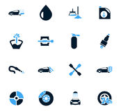 Car shop icons set Stock Photo