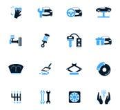 Car shop icons set Royalty Free Stock Image