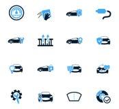 Car shop icons set Royalty Free Stock Photo