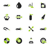 Car shop icons set. Car shop icon set for web sites and user interface Royalty Free Stock Photos