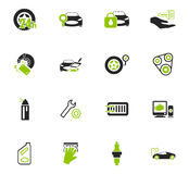 Car shop icons set. Car shop icon set for web sites and user interface Royalty Free Stock Images