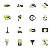 Car shop icons set. Car shop icon set for web sites and user interface Royalty Free Stock Photo