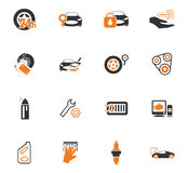 Car shop icons set. Car shop icon set for web sites and user interface Royalty Free Stock Image