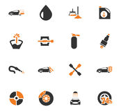 Car shop icons set Royalty Free Stock Photo