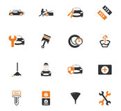 Car shop icons set. Car shop icon set for web sites and user interface Stock Photography