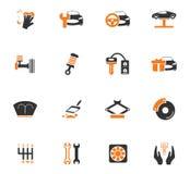 Car shop icons set Stock Photos