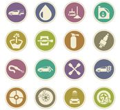 Car shop icons set Royalty Free Stock Image