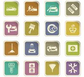 Car shop icons set. Car shop icon set for web sites and user interface Royalty Free Stock Photography