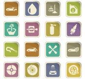 Car shop icons set Stock Images