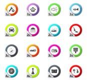 Car shop icons set Royalty Free Stock Photos