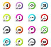 Car shop icons set. Car shop web icons for user interface design Royalty Free Stock Photography