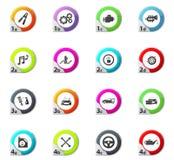 Car shop icons set Stock Image