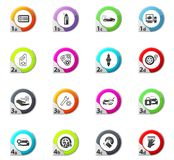 Car shop icons set. Car shop web icons for user interface design Royalty Free Stock Photo