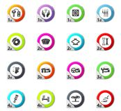 Car shop icons set. Car shop web icons for user interface design Stock Images