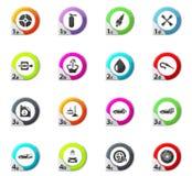 Car shop icons set. Car shop web icons for user interface design Royalty Free Stock Photos