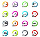 Car shop icons set Royalty Free Stock Photography