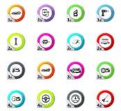 Car shop icons set. Car shop web icons for user interface design Stock Photos