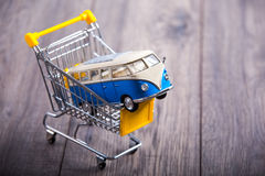 Car in a shopping basket Stock Photo