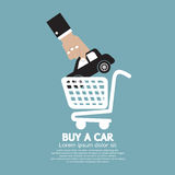 Car In Shopping Cart Buy a Car Concept Stock Images