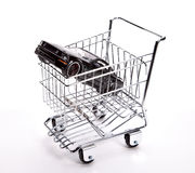 Car shopping cart concept Royalty Free Stock Photography