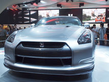 Car show. Guangzhou,China-NISSAN GT-R showing in China(Guangzhou) International Automobile Exhibition,on Nov,29th,2009 Stock Photo