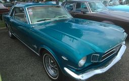 Car Show antiguo Isabela Puerto del músculo foto de archivo libre de regalías