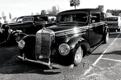 Car show black mercedes benz Royalty Free Stock Image