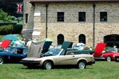 Car Show britannique au musée de système de roquette d'artillerie légère Anderson Image libre de droits