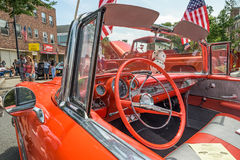 Car show classic car with tail fins Royalty Free Stock Image