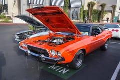 Car Show de los coches y del café de BlackHawk en Danville Fotografía de archivo
