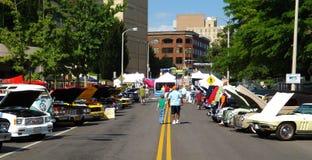 Car Show de vintage - Roanoke, la Virginie, Etats-Unis photographie stock libre de droits