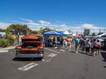 Car Show and Fathers Day BBQ Stock Image