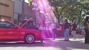 Car Show Hollywood la Florida almacen de video