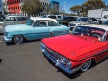 Car Show och BBQ för faderdag Royaltyfria Foton