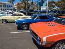 Car Show och BBQ för faderdag Arkivfoto