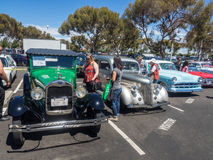 Car Show och BBQ för faderdag Royaltyfri Fotografi