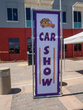Car Show och BBQ för faderdag Arkivbild