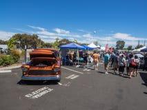 Car Show och BBQ för faderdag Fotografering för Bildbyråer