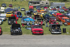 Car show over view Stock Photography
