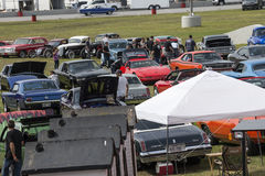 Car show overview Royalty Free Stock Image
