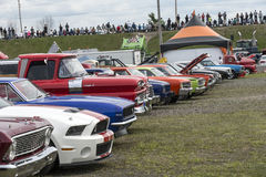 Car show row Stock Photography