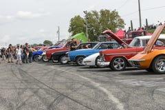 Car show with spectators Stock Photos