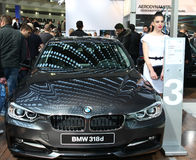 Car Show. 51st Belgrade International Car Show,March 2013.BMW 318d Royalty Free Stock Images