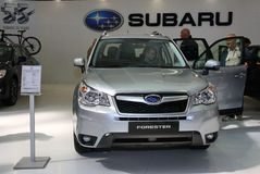 Car Show. 51st Belgrade International Car Show,March 2013.Subaru Forester Royalty Free Stock Images